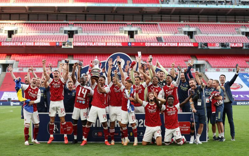 Football Aubameyang Double Helps Arsenal Beat Chelsea For 14th Fa Cup Trophy The Star