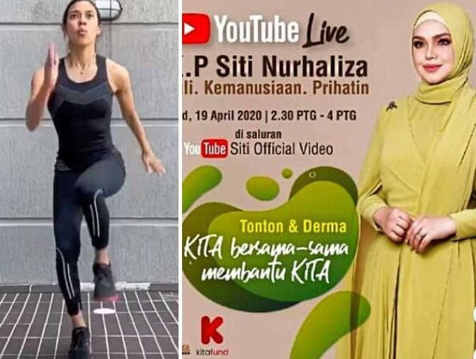 Nicol David shared fitness exercise tips on her Facebook page during the MCO lockdown, while Siti Nurhaliza went on YouTube to urge the public to support a fund that she set up for Malaysians impacted by the pandemic.