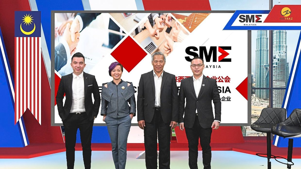 Speakers on the 'Malaysia SME Compass' live broadcast: (from left) G Life Group CEO Teh Gaik Cheong; AmLeisure Group founder and SME Malaysia's Women Entrepreneurs and Young Entrepreneurs division chairman Ada Poon; SME Malaysia president Datuk Michael Kang; and SBH Advisory Firm founder Sam Tsen.