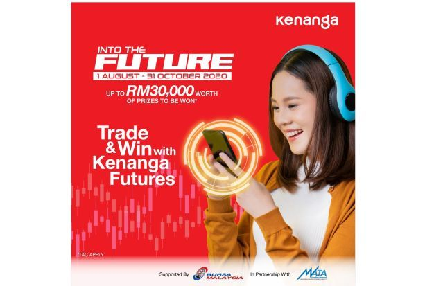 Kenanga's Into The Future campaign rewards customers who trade derivatives contracts on Bursa Malaysia Derivatives Berhad (BMD), CME Group Products (CME) and Hong Kong Futures Exchange (HKFE), from Aug 1 to Oct 31.
