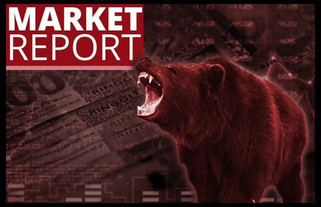 This is the second straight day of losses for the 30-stock KLCI where a total of RM20bil was wiped out from the market capitalisation, reducing it to RM1.02 trillion on Monday.