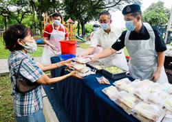 Food packs for residents celebrating Hari Raya Haji