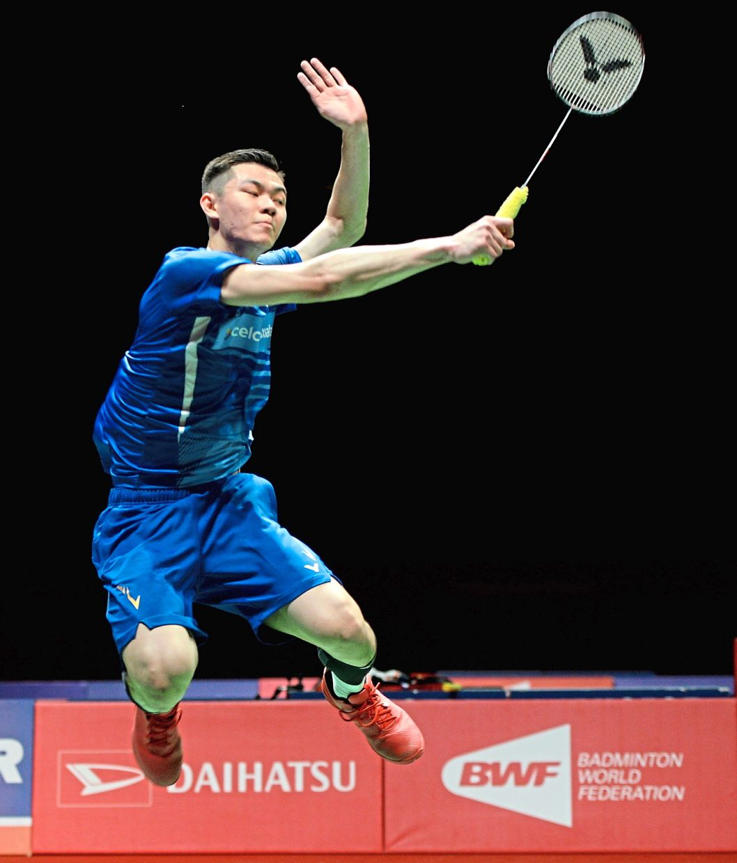 Great burden: Zii Jia will be playing at first singles during the Thomas Cup Finals in Aarhus, Denmark.