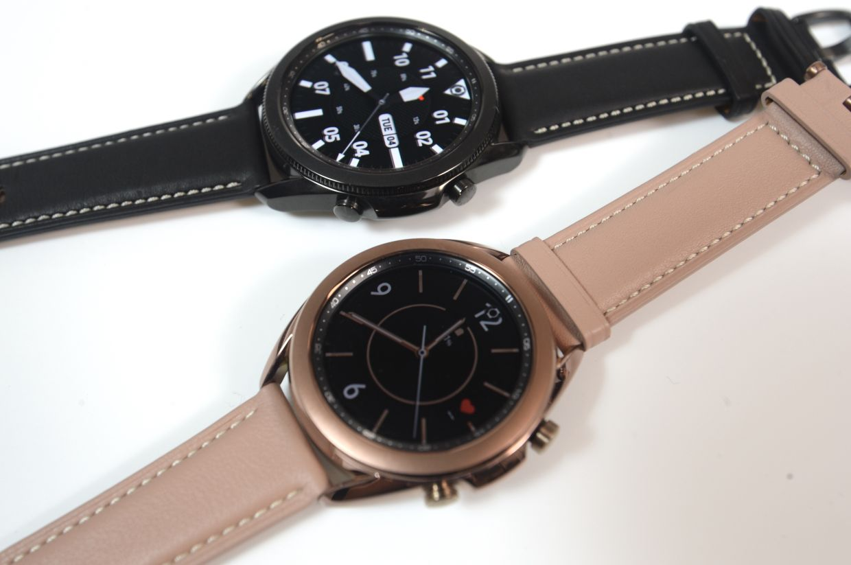 The new Galaxy Watch 3 focuses on health features. — SIA HONG KAU/The Star