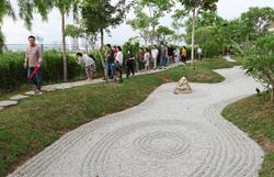 Zen garden draws local visitors
