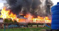 Hostel block razed to the ground, 24 pupils escape unhurt