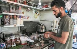 Gazans get first taste of coffee served to their doorstep on wheels
