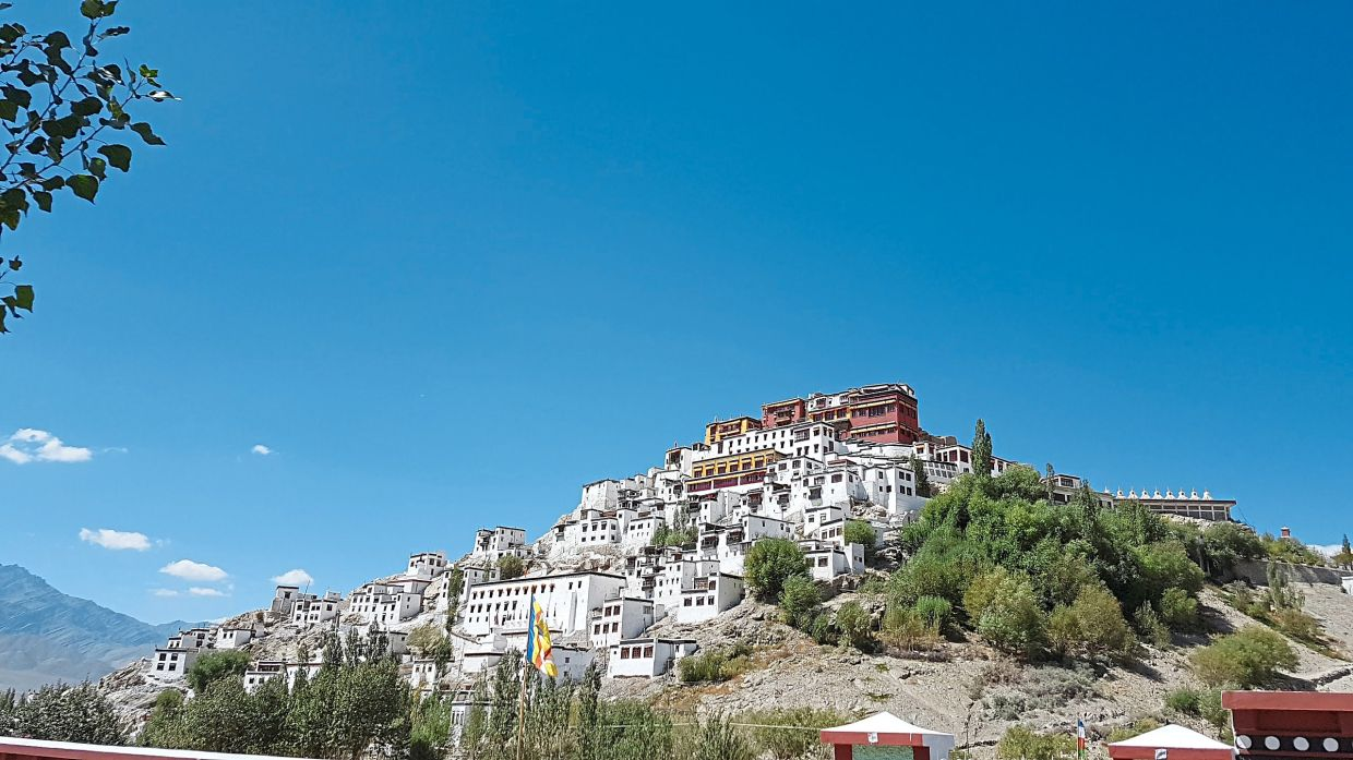Thiskey Gompa is an important Tibetan Buddhist monastery.