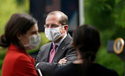 Tests and mask for U.S. health chief on Taiwan visit