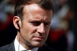 French President Macron lands in Beirut on official visit