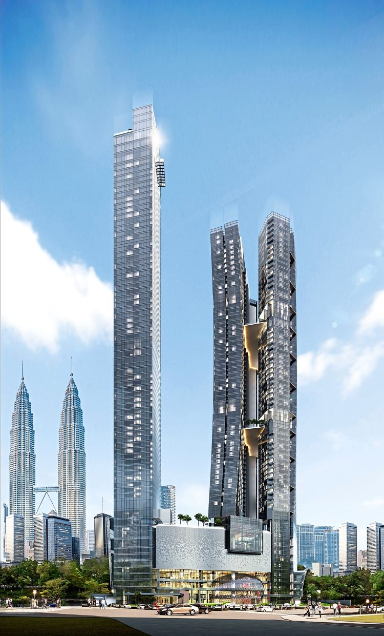 Iconic: KSK Land's 8 Conlay development will be the world's tallest twisted twin residential towers.