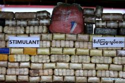 Large haul of stimulants, opium worth US$6.85mil seized in Myanmar
