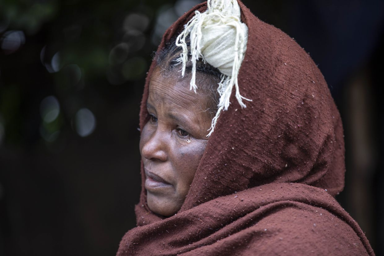 Mother-of-two Hailemariam says: 'We are living in a state where we are above the dead and below the living. This is not life.' Photo: AP/Mulugeta Ayene