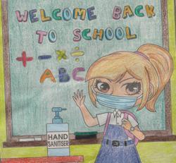 Starchild: Malaysian children keep safe in school amid Covid-19.