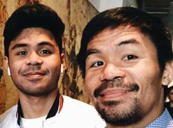 Boxer Manny Pacquiao's son packs a punch ... as a rapper