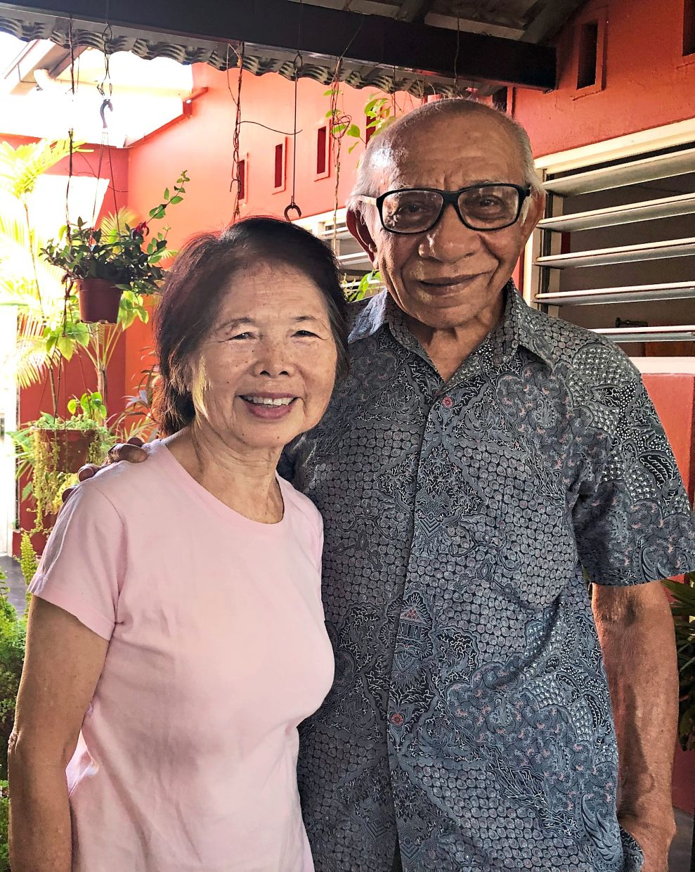 Kak Rose and her husband Anwar Hassan. Photo: The Star/Ming Teoh