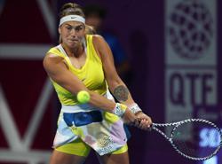 Sabalenka advances in Lexington as WTA Tour returns to US
