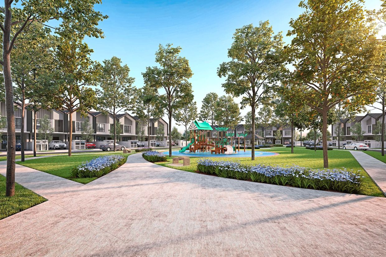 S P Setia's Aria residents will get to enjoy surrounding pocket parks, a 31-acre active park and exclusive access to the Clubhouse