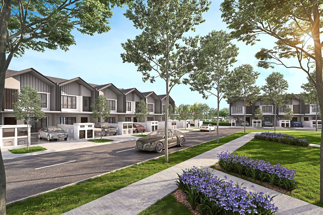 S P Setia's Aria comprises 78 units of modern and contemporary homes that are secured with perimeter fencing as an added security feature