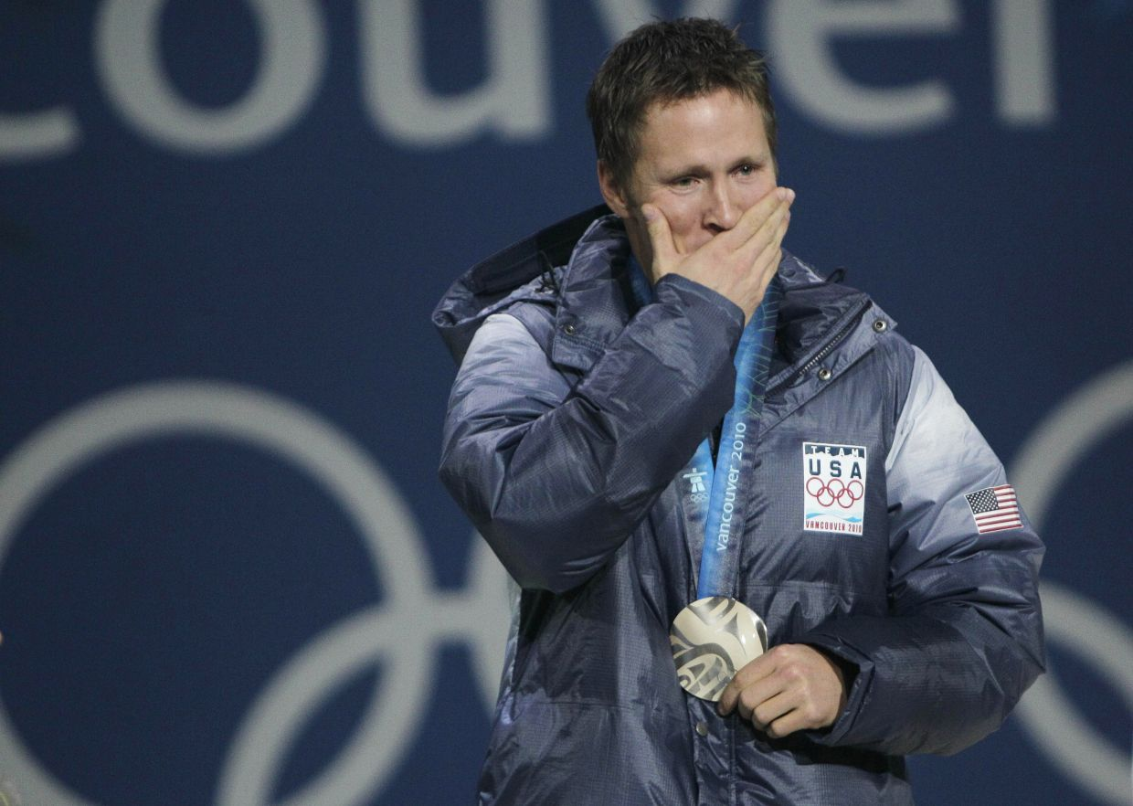 Jeret Peterson took his own life at the age of 29 in 2011 just a year and a half after winning the medal. Photo: AP