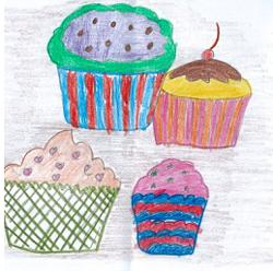 Starchild: Malaysian children draw tempting pictures of cupcakes