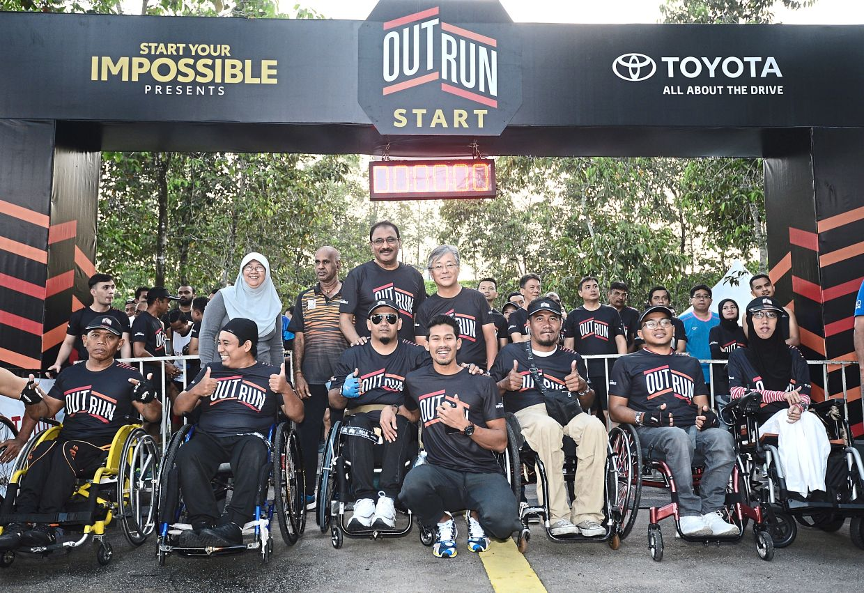More than 3,000 people took part in the Toyota Outrun 2019 8km-fun race in the spirit of Start Your Impossible.