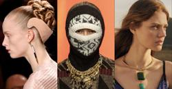 Headbands are fashionable again, as are balaclavas and chunky jewellery