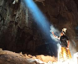 See the magical 'God Light' inside a cave in Dabong, Kelantan