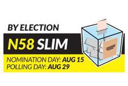 Slim by-election begins with nomination today (Aug 15)