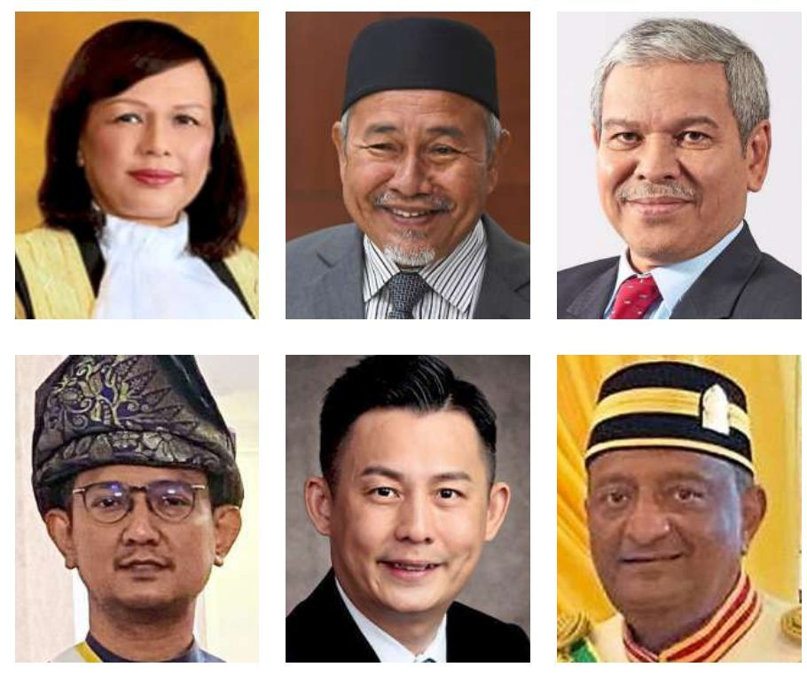 Honoured: (Top row, from left) Justice Hasnah, Tuan Ibrahim, Ahmad Badri, (bottom row, from left) Shahrul Nizam, Kwan and Vinod.