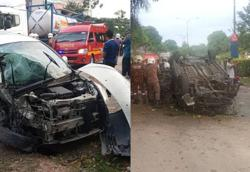 Car thief killed in head-on collision after robbery, five others hurt