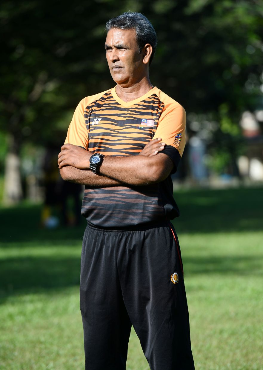 Harimau Buta coach Sunny is one of the main characters in the film. Photo: THE STAR/Azhar Mahfof