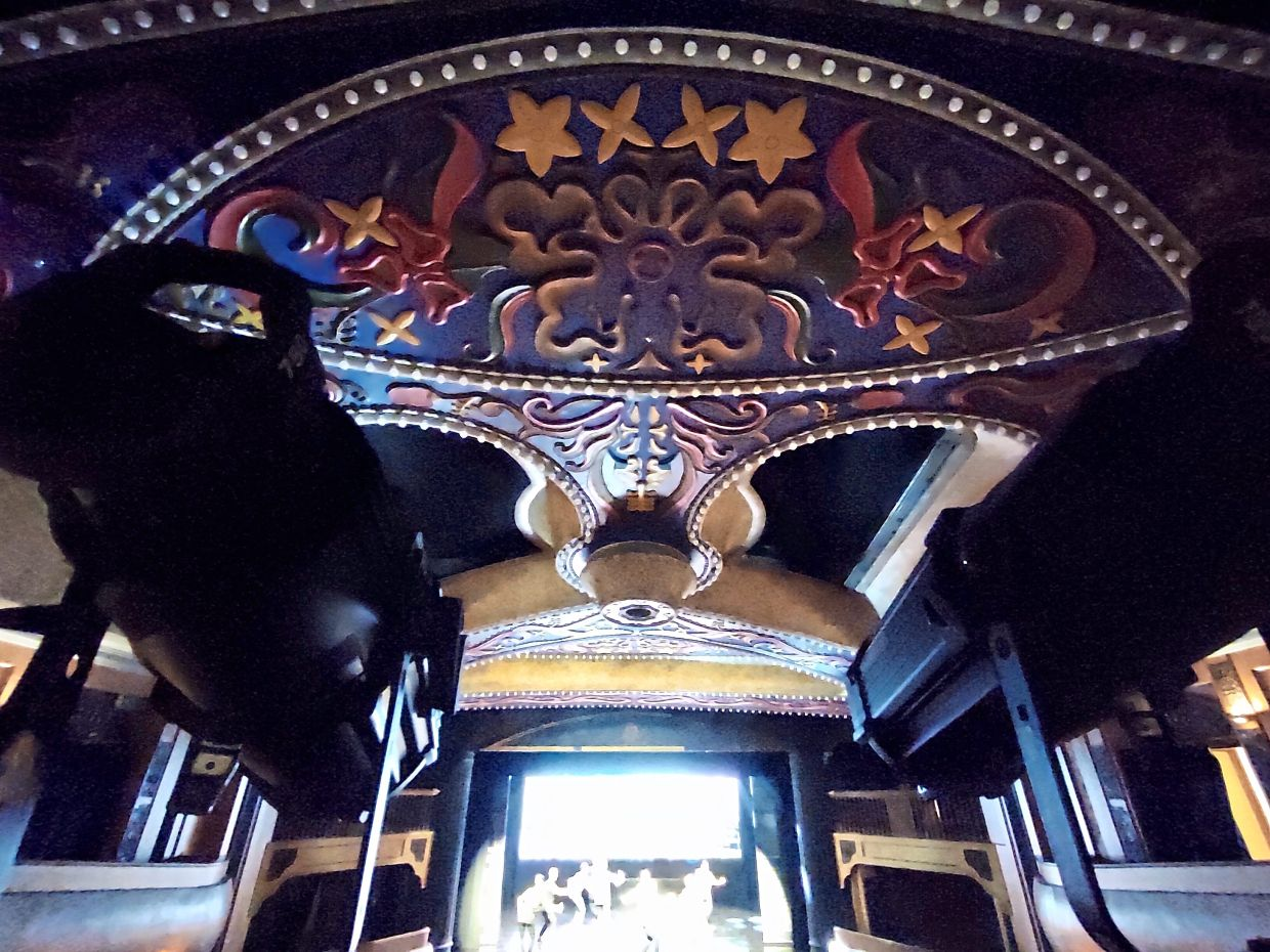 The theatre's beautiful interior design is preserved.