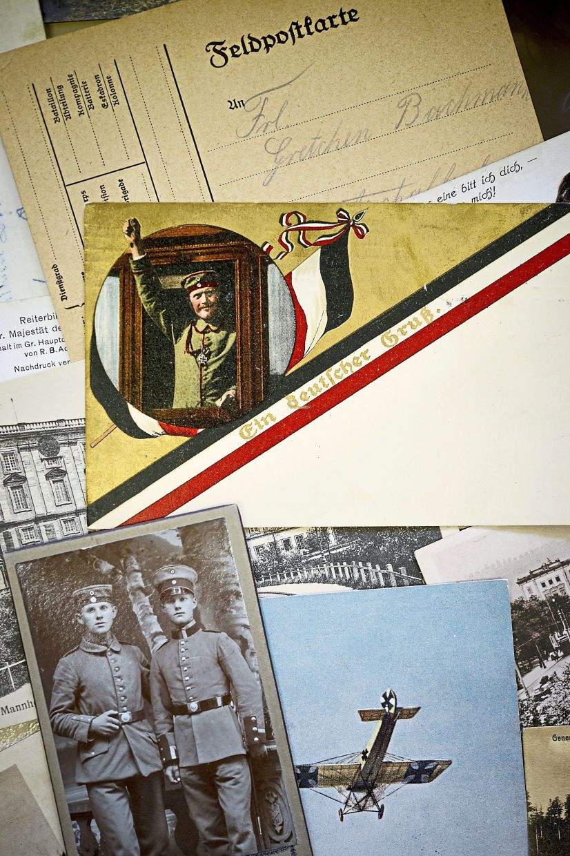 Postcards from the front lines of the World War I show that such greetings have not always been exclusive to holidays.