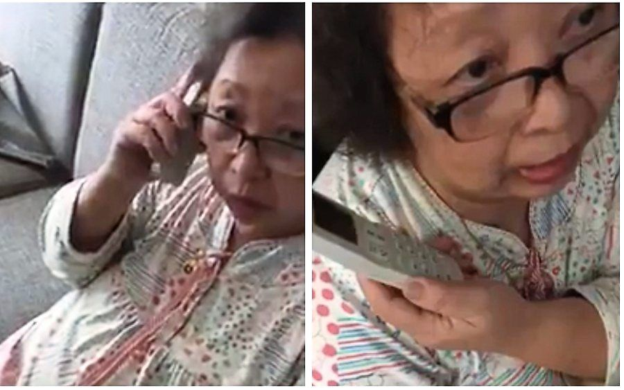 A video of this grandmother scolding a scammer who attempted to extort her, went viral in 2017. — Filepic