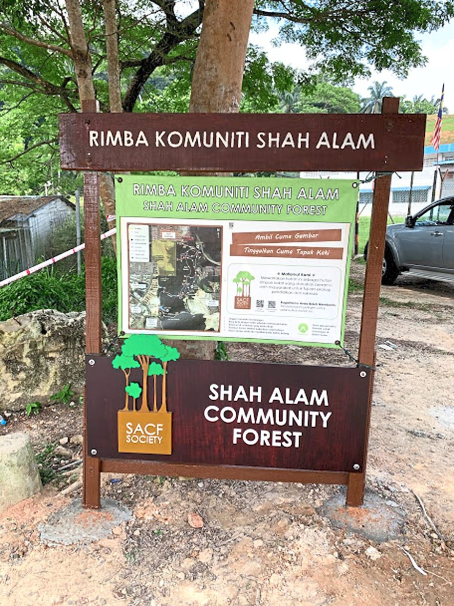 SACFS has put up a map of the trails they made for the benefit of visitors to the community forest.