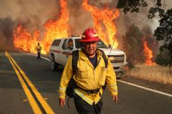 Fire-ravaged northern California largely spared new onslaught of lightning