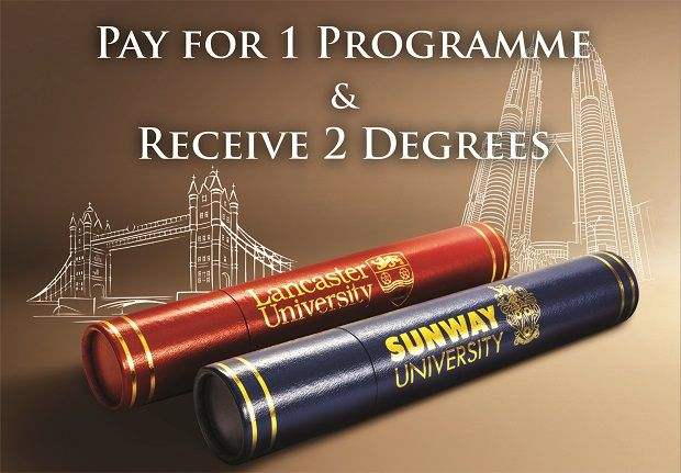 The Sunway University-Lancaster University partnership offers two degress for graduates at the price of one.
