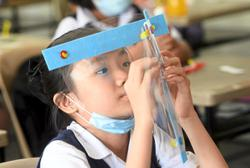 Pupils only need to wear face shields