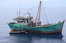 Vietnamese-flagged illegal fishing vessel caught in Indonesian waters