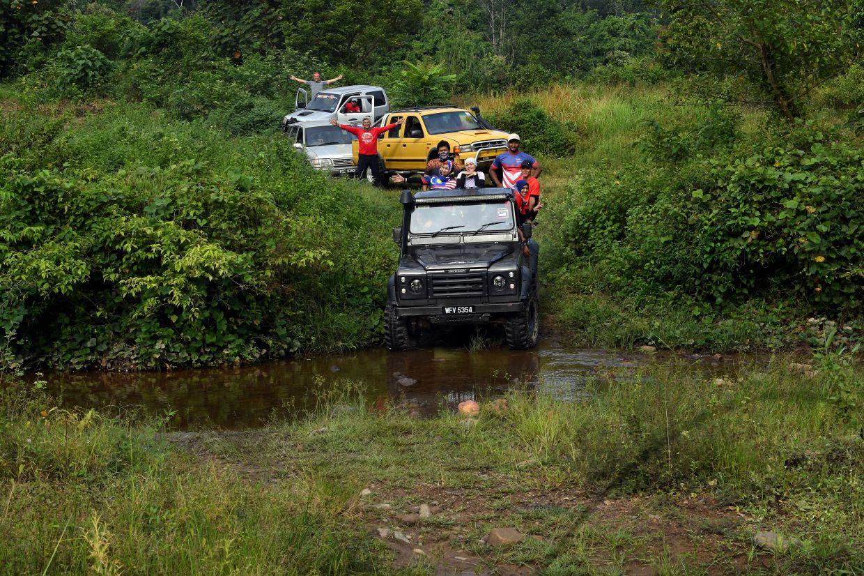 The journey to Sungai Kechil Wang Perah was challenging but exciting. Photo: Bernama