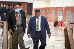 Khairuddin gives statement to police in Parliament