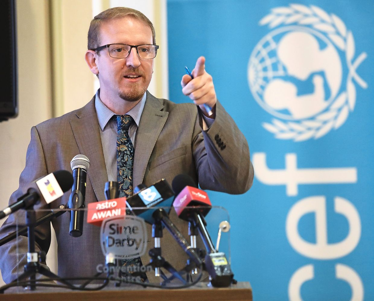 UNICEF Malaysia's chief of social policy Stephen Barrett. Photo: THE STAR/Samuel Ong