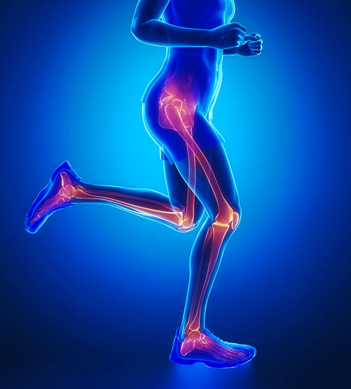 Bone loss and joint movement can be improved by walking for exercise.
