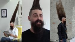 Man gets Guinness World Record for world's tallest full mohawk