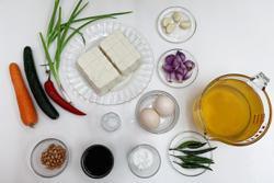 Towering egg tofu treat