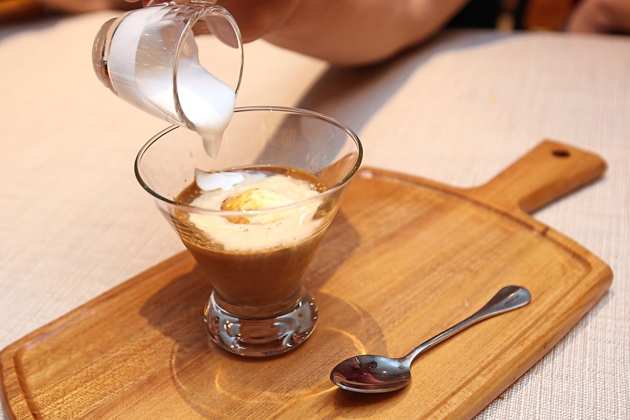 The Vietffogato is a mixture of Vietnamese coffee, coconut milk, and coconut ice cream.