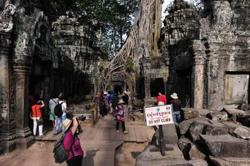 Cambodia's Angkor sees 74 per cent drop in foreign visitors