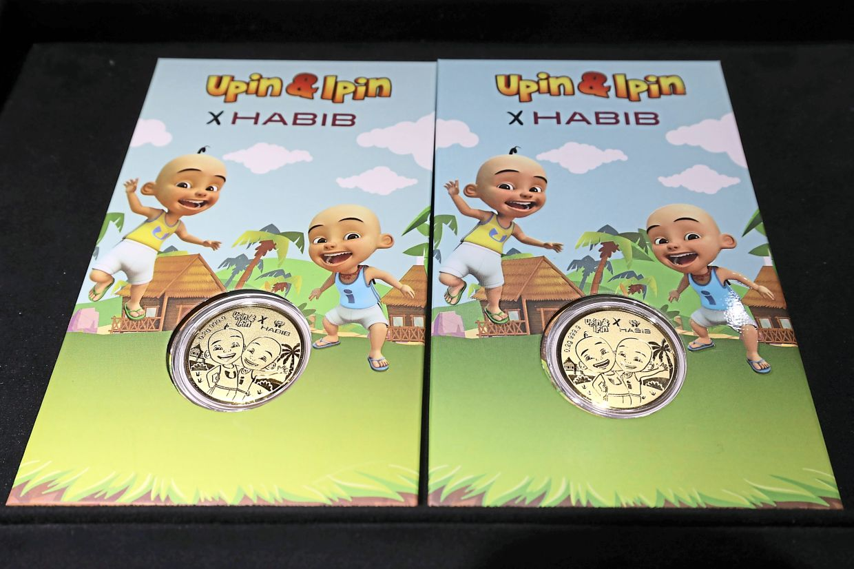Habib Jewels has introduced the limited-edition gold coin inscribed with Upin and Ipin characters.