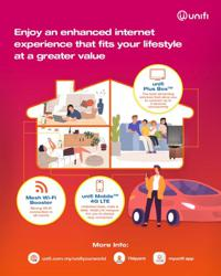 Customers can bundle unifi products as a family package